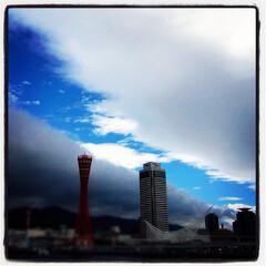 梅雨 神戸のとある日の空