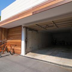 外構/エクステリア/ウッドデッキ/ファサード/車庫