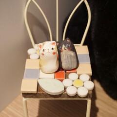 猫雑貨/雑貨/インテリア/ハンドメイド 雑貨屋さんで陶器の猫ちゃんを見つけました…
