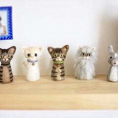 羊毛フェルト/猫/ペット/ハンドメイド うちの子シリーズ