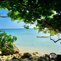 カフェ/海/沖縄/おでかけ 海辺の茶屋 とっても素敵なところでした。