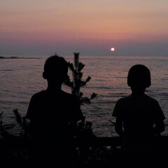キャンプ/掛津海水浴場/琴引浜/京都府 夏の終わり