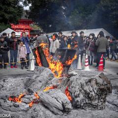 2020/正月/焚き火/下鴨神社/京都/お正月2020 2020元旦 京都 下鴨神社