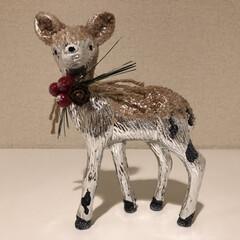 鹿/クリスマス雑貨/フライングタイガー/クリスマス/インテリア フライングタイガーのホリデー仕様の鹿を玄…