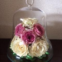 ボトルフラワー/花束保存/バラ/ハート/半永久 「ベルボトル」 成人のお祝いに花束をいた…