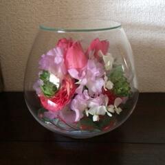 ボトルフラワー/花束保存/チューリップ/成人式/ありがとう/半永久 「ボールボトル」 お母さん感動です!! …