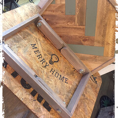 DIY/木工雑貨/キャンプ/トレイ/ミニテーブル キャンプにも使える 折りたたみミニテーブ…(3枚目)