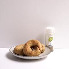 Flussoアンバサダー/Flusso/フルッソ/ダイエット/ヘルシー料理/桜葉のお塩/... 【100%オートミールベーグル♡】 こち…