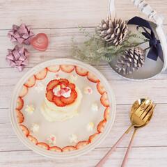 パンケーキ/米粉パンケーキ/シンプル/カルディ/ナチュラル/暮らし/... 土曜日のおやつ時間♡  今日は #カルテ…(3枚目)
