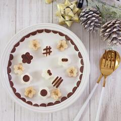 スライス生チョコレート/ブルボン/型抜き/朝食/アレンジ/食パン/... モノトーンの世界♡  白と黒、好きですか…(1枚目)
