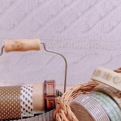 タマゴケース/マステ/ラッピング材/トランク/ミニバスケット/ブリキトレー/... キッチン棚をおめかししてみました❣️  …(5枚目)