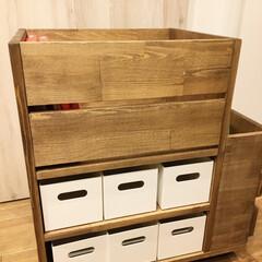 棚/書斎/ニトリ/収納/DIY/ナチュラル 書類や小物を収納する引き出しが欲しくて作…(3枚目)