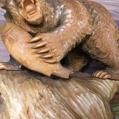 木彫りの熊/秋/雑貨 さよなら熊さん。 メルカリに出品したとこ…(3枚目)