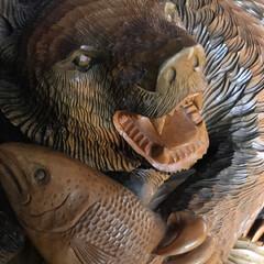 木彫りの熊/秋/雑貨 さよなら熊さん。 メルカリに出品したとこ…(4枚目)
