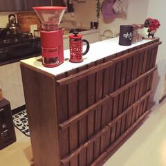 カラーボックスdiy/カラーボックスリメイク/キッチンカウンター/LIMIAインテリア部/キッチン雑貨/収納/... カラーボックスで簡単キッチンカウンターを…