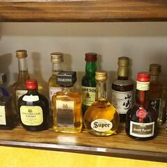 酒棚/ミニボトル/DIY/インテリア/家具/収納 酒棚のミニボトル置き場