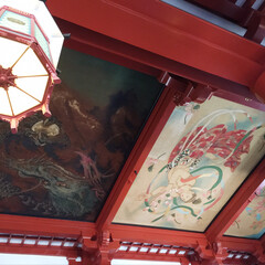 伝統/仏閣神社/旅/朱色/おでかけ 仏閣などの外観のみではなく、天井や内装を…