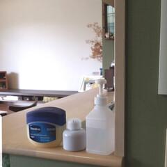 ヴァセリン オリジナル ピュアスキン ジェリー   368g(スキンケアクリーム)を使ったクチコミ「リビングはいってすぐのキッチンカウンター…」