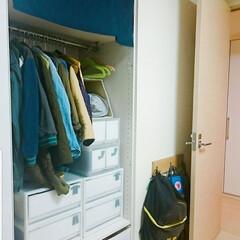 片付け/子供部屋収納/鞄収納/収納/無印良品/暮らし 扉の後ろの壁はデッドスペースになりがち。…