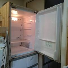 冷蔵庫 (R-S40KL XN) | 日立(冷蔵庫)を使ったクチコミ「冷蔵庫、全部出し掃除。 頻繁にはできませ…」