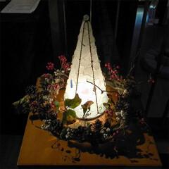 シーグラス/ランプ/クリスマス クリスマスツリー 個展会場で最初にお客様…