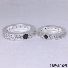 手作りシルバーアクセサリー/フルエタニティ/ペアリング/ごつい/ごついリング/ごつい指輪/... ごつめのフルエタニティ、きらめきリングシ…