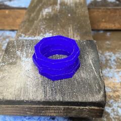 手作りシルバーアクセサリー/シルバーリング/シンプル/ロストワックス/ハンドメイド/八角形/... シンプルな八角形のリングを同じサイズで3…