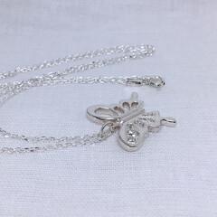 アゲハチョウ/アゲハ蝶/蝶/ネックレス/シルバー/シルバーアクセサリー/... 一点もの、アゲハチョウのネックレス。  …