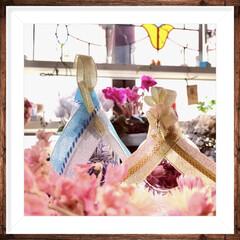 ひな祭り/季節の飾り/大人かわいい/ハンドメイドおひなさま/おひなさま/リメイク/... ガラスのお雛様いいなぁ💕 と思っていて、…