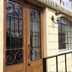 オーダードア/アイアン面格子/スタジオ施工/外装施工 スタジオ施工例1 ドア製作 外装施工
