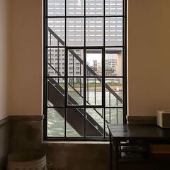 スタジオ施工/オーダー窓/アイアン窓 スタジオ施工例2 アイアン窓