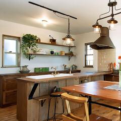 キッチンカウンター/古材 住宅(新築)施工例1