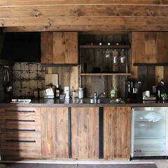 オーダーキッチン/古材 スタジオ施工例3 キッチン