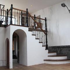 スタジオ施工/内装施工/階段/階段手摺り スタジオ施工例3 内装施工 階段 階段手…(1枚目)