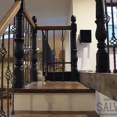 スタジオ施工/内装施工/階段手摺り/アイアンブラケット スタジオ施工例3 階段手摺り