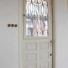 スタジオ施工/内装施工/オーダードア/アイアン面格子 スタジオ施工例4 ドア アイアン面格子
