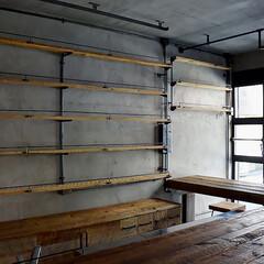 店舗什器/インダストリアル/工業系/店舗内装施工 インダストリアルな店舗施工例 店舗什器