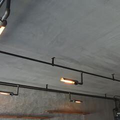 オリジナル照明/インダストリアル/工業系/エジソンバルブ インダストリアルな店舗施工例 オリジナル…