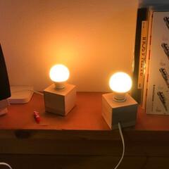 ライト/照明/インテリア/DIY シンプルでレトロなキューブライトをDIY…