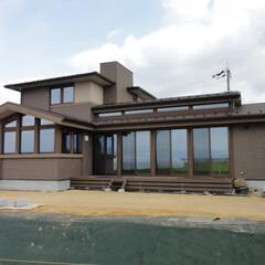 オーガニックハウス/注文住宅/外観/デザイン/新築/一戸建て 周囲に馴染む美しい外観。 一部が二階建て…