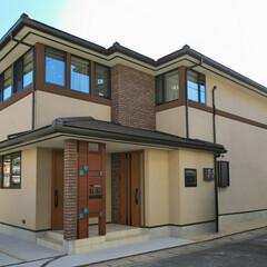 オーガニックハウス/滋賀/注文住宅/一戸建て/新築/デザイン/... レンガと自然にあるようなアースカラーを取…