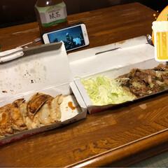 プチ新年会/おせち/王将 王将の餃子と焼き肉、おせち プチ新年会🍻…