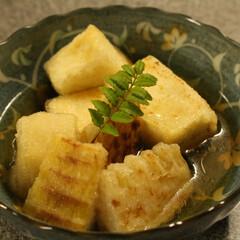 豆腐/筍/家メシ/田舎暮らし/おうちごはん 筍と豆腐の揚げ出汁。  豆腐は地元の大豆…