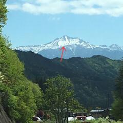 登山/山/おでかけワンショット 遠く望む笠ヶ岳 白馬が田植え時期を告げま…