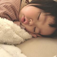 娘/1歳1ヶ月/赤ちゃんのいる暮らし/赤ちゃん/ぶちゃカワ/寝顔 すやすや…♡ ぶちゃカワな寝顔♡ どんな…