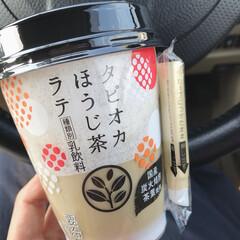 おやつ/ほうじ茶ラテ/タピオカドリンク/タピオカ 今日のおやつ。 セブンで買ったタピオカほ…(1枚目)