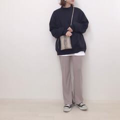 リブパンツ/スウェットコーデ/上下GU/GU/ファッション またまた上下GUコーデ。 メンズのスウェ…