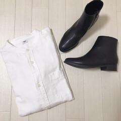スタンドカラーシャツ/ブーツ/UNIQLO購入品/ユニパト/ユニクロ/UNIQLO/... UNIQLO購入品* 今日どうしても値下…