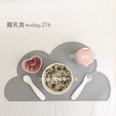 離乳食完了期/離乳食/LIMIAごはんクラブ/おうちごはんクラブ/わたしのごはん 今日の離乳食。 ちなみに朝ごはんメニュー…