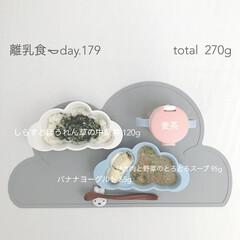 手作りごはん/生後11ヶ月/離乳食後期/離乳食/おうちごはん/グルメ/... 今日の離乳食。 ストックのほうれん草とし…